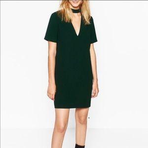 Zara MINI DRESS WITH COLLAR DETAIL